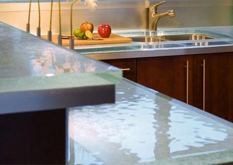 Cristales para decoraci n de cocinas - Encimeras de cocina de cristal ...
